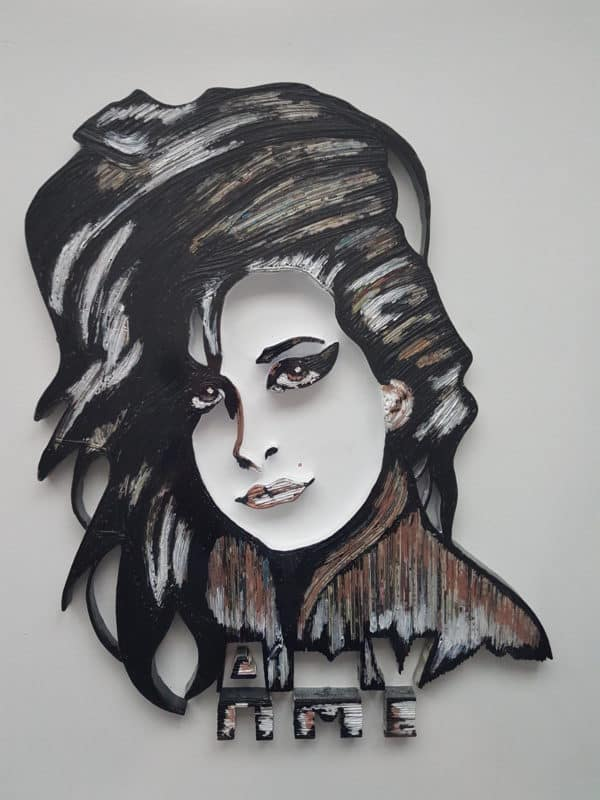 3d Upcycled Paper Wall Art Pieces & Portraits Recycling Paper & Books