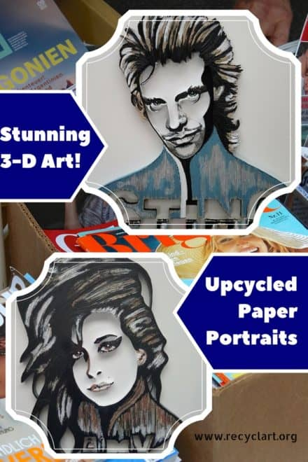 3d Upcycled Paper Wall Art Pieces & Portraits