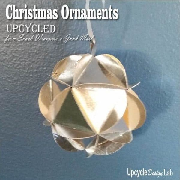 Create Upcycled Snack Bag Ornaments with everyday packaging!
