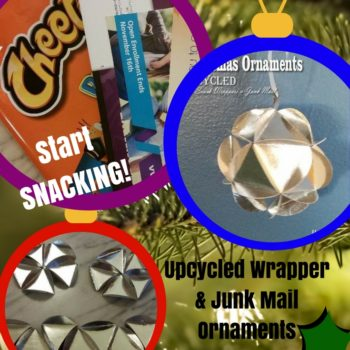 Diy Video Tutorial: Upcycled Snack Bag Ornaments