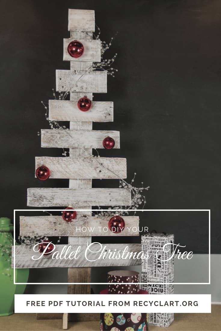 Easy Pallet Christmas Tree Free Pdf Tutorials Recyclart