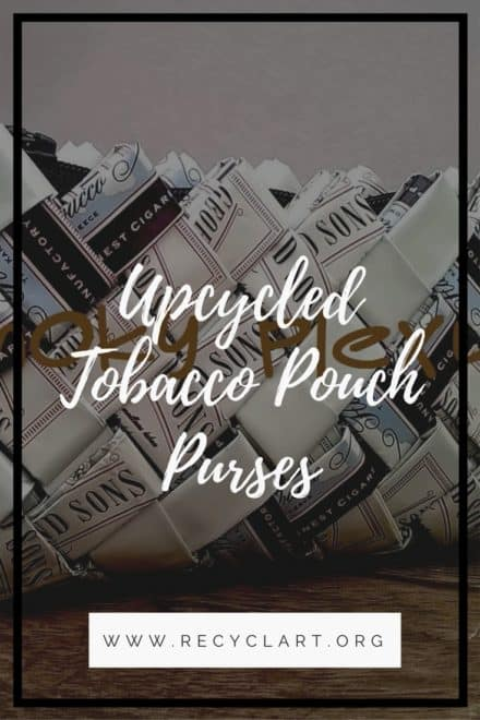 Handmade Upcycled Tobacco Packaging Handbags