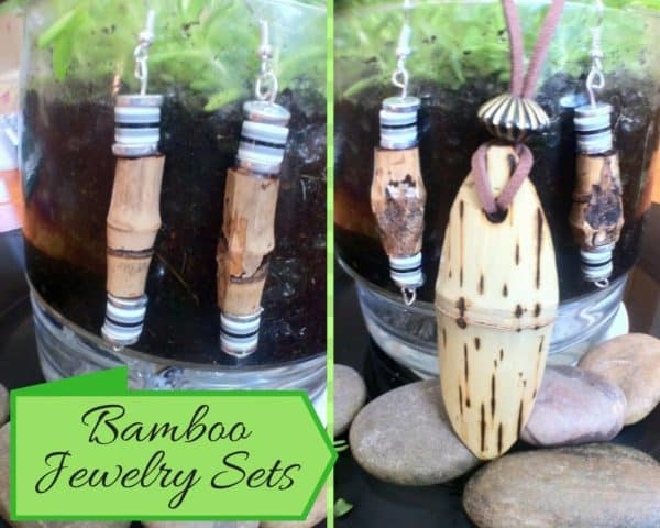 Bamboo has features, including grain and joint flaws that are perfect for Upcycled Jewelry Pieces.