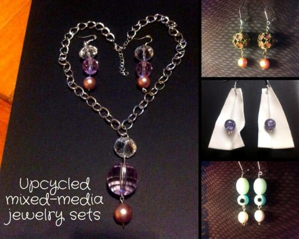 Upcycle old beads, plastic pieces and more into Upcycled Jewelry Pieces.
