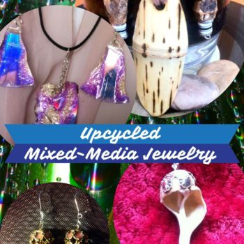Pretty Mixed-media Upcycled Jewelry Pieces