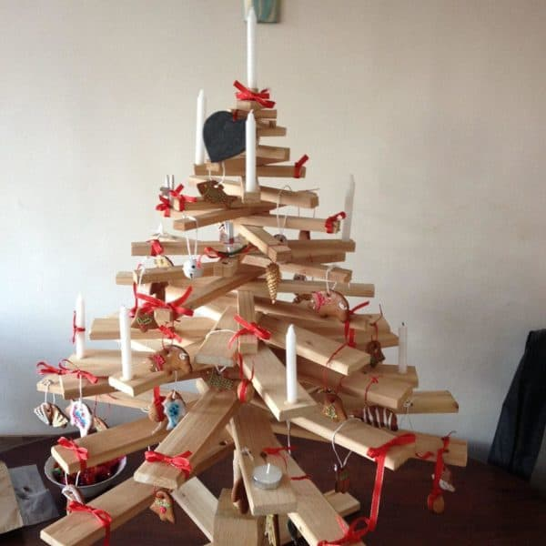 Charming Stacked Pallet Mini Christmas Tree Home & décor Recycled Pallets