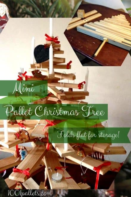 Charming Stacked Pallet Mini Christmas Tree