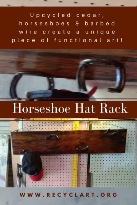 Upcycled Horseshoe Hat Rack Makes Cedar Look Amazing!