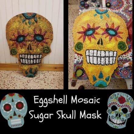 """Eggshell Sugar Skull Art """"Catrinamask"""""""