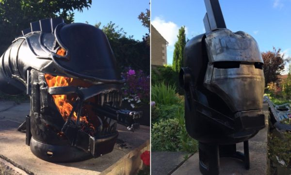 Amazing Upcycled Fire Pits like an Alien Monster-inspired burner and another that looks like Iron Man will inspire you.