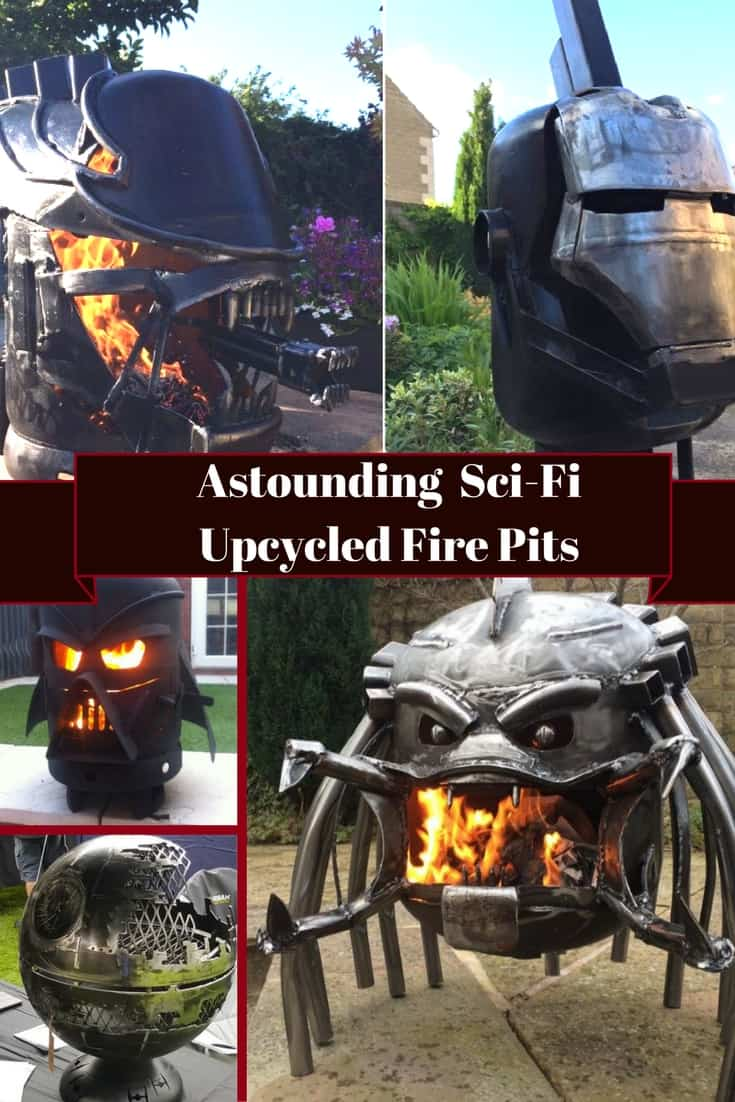 Light those parties up with mind-blowing outdoor fire pits! Inspired by popular movies, these wood burning outdoor stoves capture the essence of the monsters! #alienvspredator #ironman #alexdodson #firepit #darthvader #deathstar #nazgul