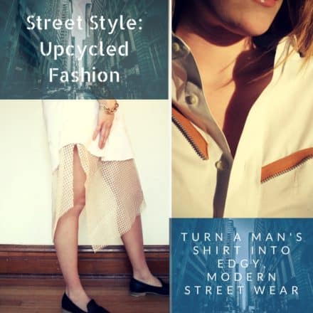 Street Style Inspired Mens Shirt Dress: Upcycled Fashion