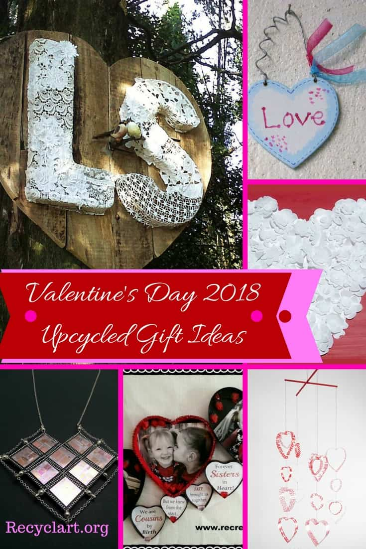 Skip the flowers & jewelry. Make Valentine\'s gift Instead! Be kind to your wallet & the earth while showing your love with heartfelt, handmade gifts! Upcycle many commonplace items around the house. Several ideas are kid-friendly ideas!