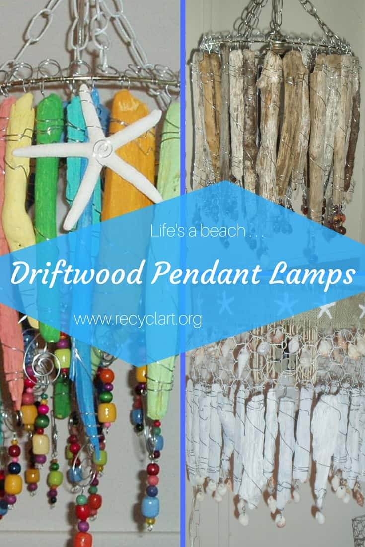 Bring the beach home with these Driftwood Lamps! Leave the wood natural, or use stains, paints, & whitewashes, along with decorative elements for a custom look. Add wood or glass beads, crystals, decorative wire wrapping techniques and more!