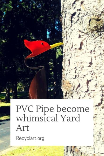 Modern Pvc Pipe Birds Make Unique Yard Art!