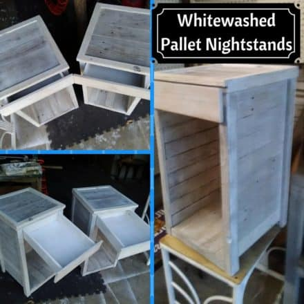 Paired Pallet Nightstands Add Handy Storage Space