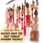 Please Pass the Salt Shaker Upcycled Window Valance