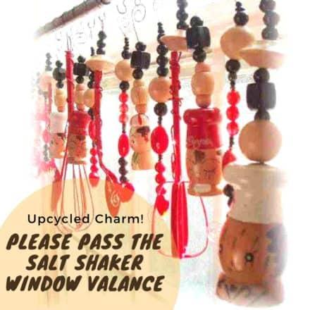 Please Pass the Salt Shaker Upcycled Window Valance