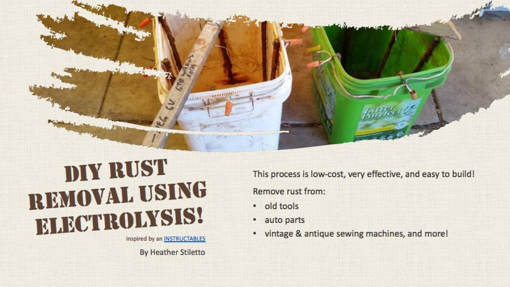 How-To Remove Rust Using Electrolysis • Free PDF Tutorials • Recyclart
