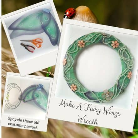 Upcycle Old Costumes Into This Fairy Wings Wreath!