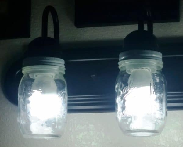 Upcycled Mason Jar Lamp Globes Lamps & Lights