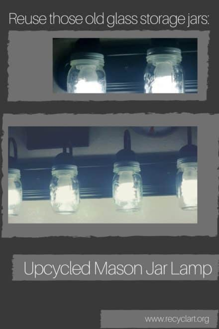 Upcycled Mason Jar Lamp Globes