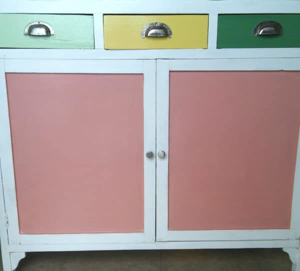 Bright, Cheery Upcycled 1950\'s Cabinet • Recyclart