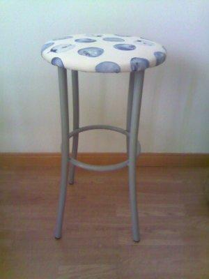 Upcycled Chairs include a great barstool.