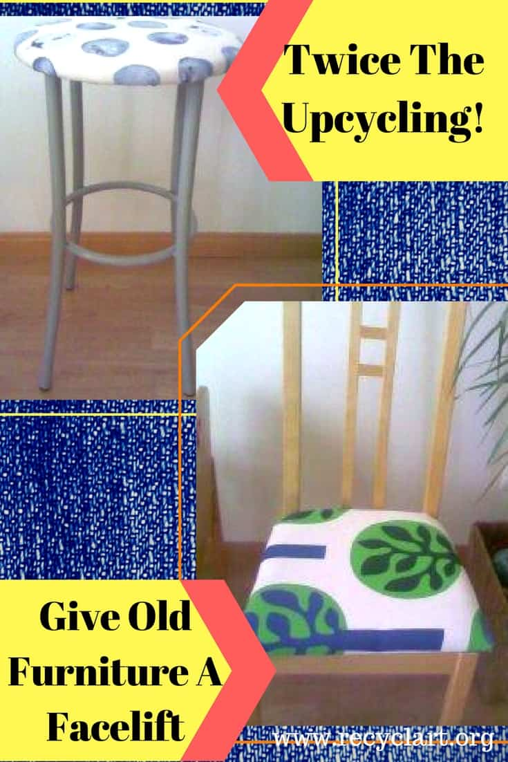 Curb alerts can be awesome when you Upcycle Old Chairs! Breathe new life into structurally sound chairs by upcycling fabric & re-covering the cushions! #diyawesomeideas #upcycledchairs #recyclart #twicetheupcycling #freefurnitureyoudiy!