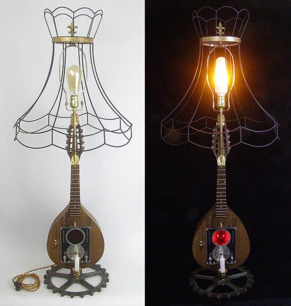 Mandolins and more are used to create attractive lighting ideas in these Lightmusic Lamps.
