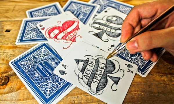 Arts & Crafts With Old Playing Cards Recycled Cardboard