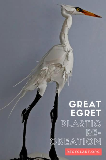 Great Egret, Plastic Re-creation