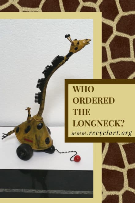 Brush Away The Blues With This Upcycled Giraffe!