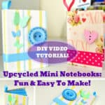 Make Upcycled Mini Notebooks: DIY Video Tutorial!