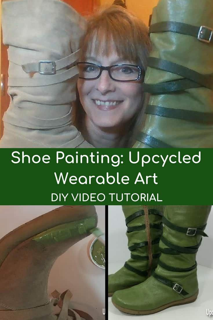 Don't throw those shoes out! Paint them instead! This DIY Video shows you how to upcycle shoes into color-coordinated wearable art! Paint your shoes to match a special outfit or even create affordable costume accessories! #shoepainting101 #diyvideo