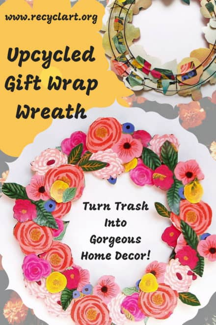 Upcycled Gift Wrap Wreath: Trash Into Gorgeous Decor!