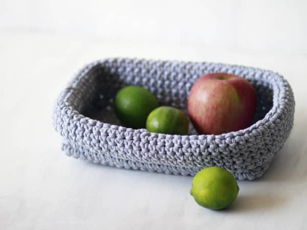These little T-shirt Yarn Baskets are great for the kitchen too!