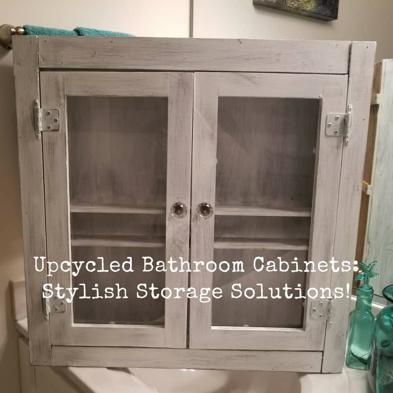 & Upcycled Bathroom Cabinet Adds Storage And Style! u2022 Recyclart