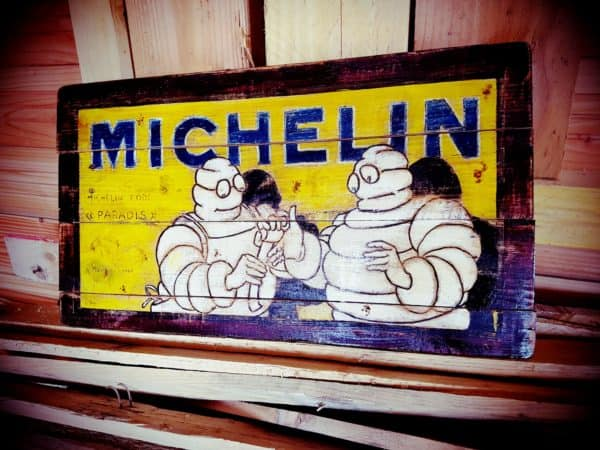 Reproduction of Old Billboards on Wooden Pallets Recycled Pallets