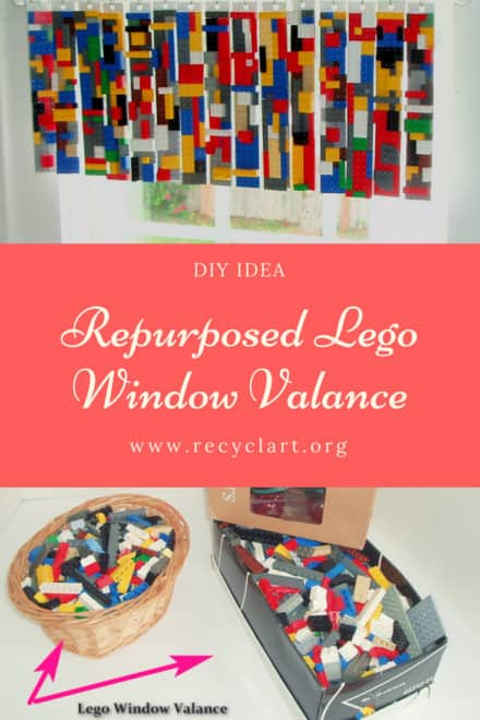 Repurposed Lego Window Valance