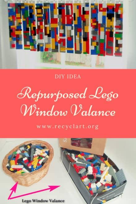 Repurposed Lego Window Valance