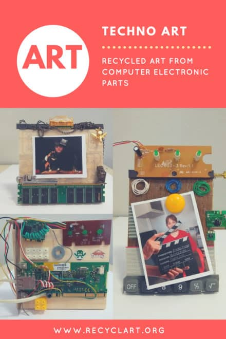 Techno Art: Recycled Art from Computer Electronic Parts