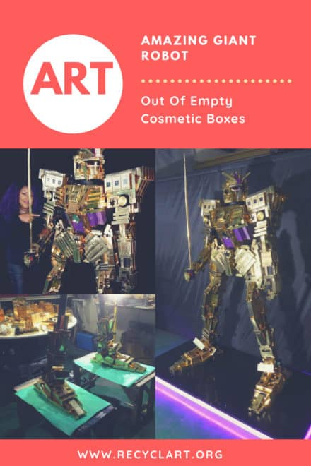 Amazing Giant Robot Out Of Empty Cosmetic Boxes