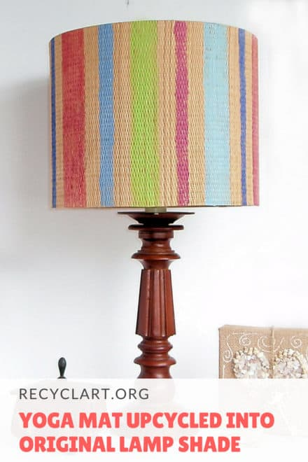 Yoga Mat Upcycled Into Original Lamp Shade