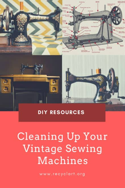 Do it yourself ideas recyclart diy cleaning up your vintage andor antique sewing machines solutioingenieria Images