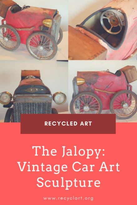The Jalopy: Vintage Car Art Sculpture
