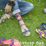Upcycled Car Tires Into Sandals
