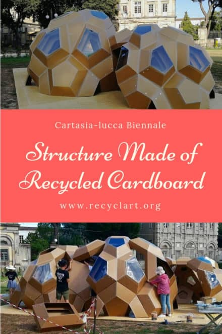Cartasia-lucca Biennale: Architectural Structure Made of Recycled Cardboard