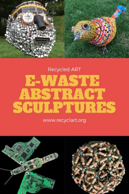E-waste Abstract Sculptures