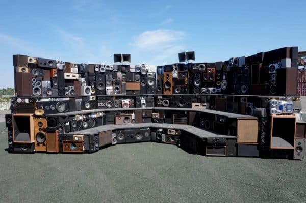 Arena: Mobile Interactive Sound Sculpture Recycled Electronic Waste
